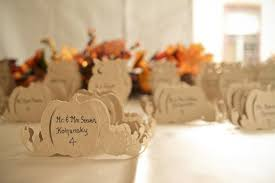 picture of lovely autumn wedding seating charts and cards