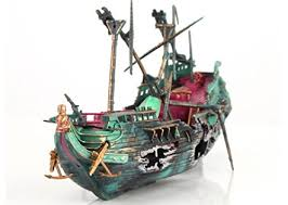 take a look sunk wreck boat aquarium ornament ship sailing boat