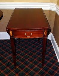 hickory chair side tables hickory chair company historical james river plantations drop leaf