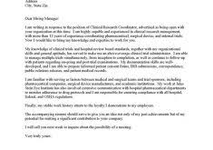 exclusive ideas research cover letter 7 clinical job sample cv