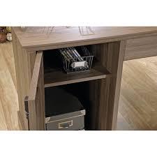 L Shaped Desk With Locking Drawers by Amazon Com Sauder Barrister Lane L Shaped Desk In Salt Oak
