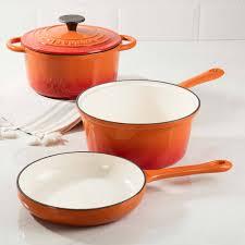 la cuisine caçarola de ferro fundido panela multifunção laranja la cuisine