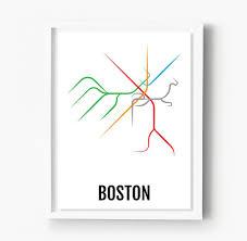 T Map Boston by Boston Subway