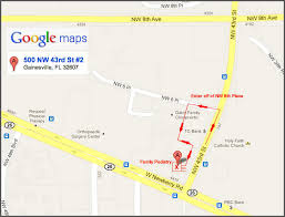 gainesville map gainesville fl family podiatry vein care map
