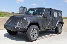 jeep wrangler pickup spotted testing spotted 2018 jeep wrangler jl unlimited in the wild design