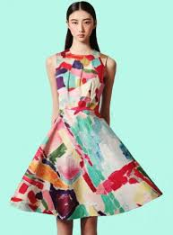 colorful dress dress bqueen fashion colorful party girl printing