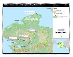 Nome Alaska Map by Lightning Ignited Wildfires At Bering Land Bridge National