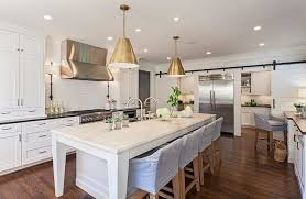 Modern Farmhouse Kitchens Contemporary Modern Farmhouse Kitchen Design White Via Hello