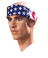headband men costume adventure american flag bandana headband us bandana for