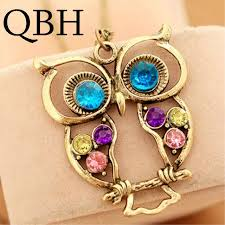 vintage owl necklace jewelry images Nk009 new anime hot girl bijoux men collier maxi vintage owl jpg