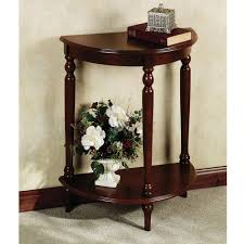Entry Table Ikea Furniture Half Round Brown Polished Wooden Entryway Table With