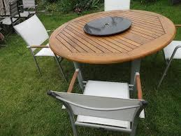 patio table lazy susan garden set