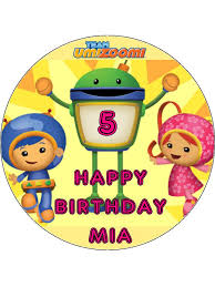 umizoomi cake toppers 7 5 team umizoomi edible icing or wafer birthday cake top topper