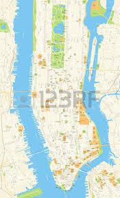 detailed map of new york manhattan map stock photos pictures royalty free manhattan map