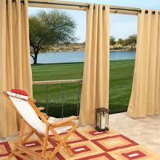 Sunbrella Outdoor Curtain Panels by Sunbrella Outdoor Curtain With Grommets By Hatteras Outdoors 52