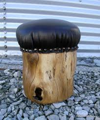 Leather Rolling Chair by Add Castor Wheels And You Have A Rolling Chair Padded Stump