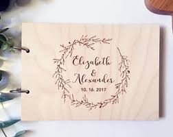 engraved guest book rustic guest book etsy