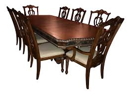 omexy limited dining table with 8 chairs chairish