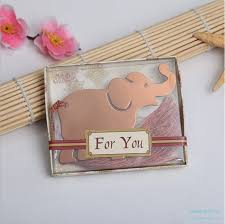 elephant favors stainless steel lucky elephant bookmark favors china wedding favors
