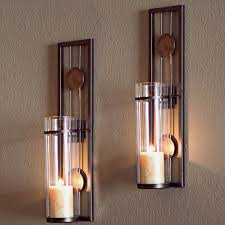 home theater lighting sconces amazon com contemporary metal candle sconce set 2 pc home