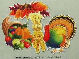 decorations lovely thanksgiving decoration cutouts with fruit