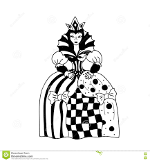 queen coloring chess figurine stock illustration image