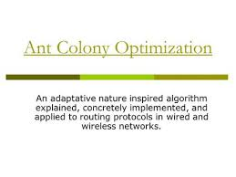 Ant Colony Optimization An adaptative nature inspired algorithm explained  concretely implemented  and applied to