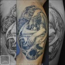 memorial skull roses ironbuzz tattoos mumbai