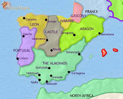 map of spain map of spain and portugal at 1215ad timemaps