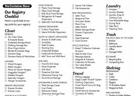 for wedding registry wedding registry checklist from the container store ordinary