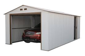 Overhead Shed Door by Duramax Imperial 12 Ft W X 20 Ft D Metal Garage Shed Wayfair