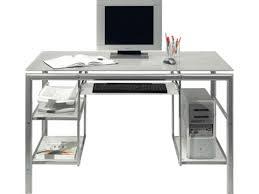 bureau metal et verre conforama bureau en verre maison design wiblia com