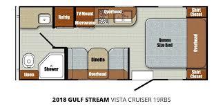 Surveyor Travel Trailer Floor Plans by 2018 Gulf Stream Vista Cruiser 19rbs U2013 Stock Vc18001 The Rv Man