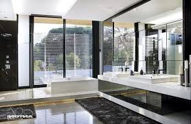 Bathroom Ideas White And Brown by Contemporary Guest Bathroom Ideas White Stained Wooden Frame Glass