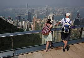 The Economic View From The Hong Kong Skyline As Economic Hit Spurs Opposition To Protest