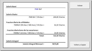calculo referencial de prestaciones sociales en venezuela calculo salarial 2017 venezuela lottt liquidaciones prestaciones