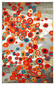 Modern Orange Rugs Mohawk Home Strata Tossed Floral Multi Area Rug Contemporary