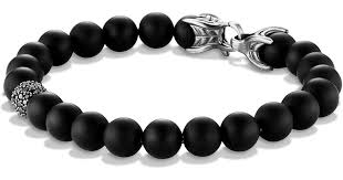 onyx bracelet with diamonds images Lyst david yurman spiritual beads bracelet with black onyx jpeg