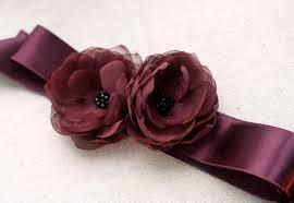 bridal flower sash wedding dress accessories bridal gown flower