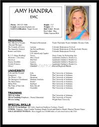 Actor Resume Samples by Cover Letter Actor Resume Samples Acting Resume Samples No