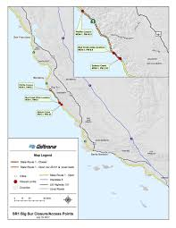Caltrans District Map A Part Of Highway 1 In Big Sur Has Reopened But Other Issues