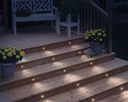 Recessed Deck Lighting Lighting Your Deck Stairs Is An Easy Way To Add To Your Outdoor