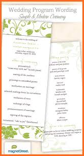 Examples Of Wedding Programs Wedding Program Examples Soap Format