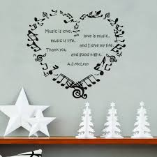 compare prices on music note character online shopping buy low music is love love is music wall stickers music notes heart diy high quality removable home