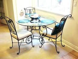 glass and metal dining table and chairs glass and wrought iron