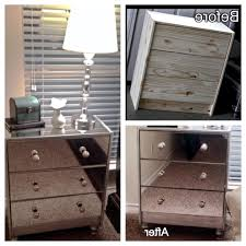 Nightstands With Mirrored Drawers Diy Mirrored Dresser Ikea Mirror Nightstand Pics With Appealing