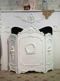 Shabby Chic Fireplace by Fireplace Screen Hand Painted Shabby Chic