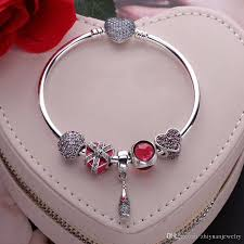 love heart charm bracelet images 2018 valentine gifts love heart charm bracelets bangle 925 jpg