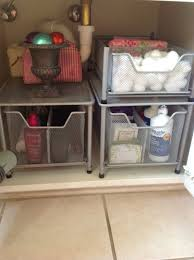 kitchen under sink storage basket cabinet sliding drawer organizer