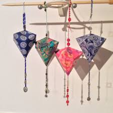 origami beaded lanterns handmade by liz based on for